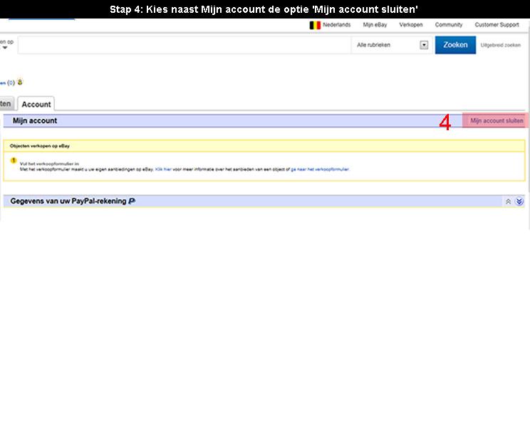 Ebay account verwijderen 4