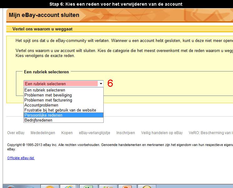 Ebay account verwijderen 6