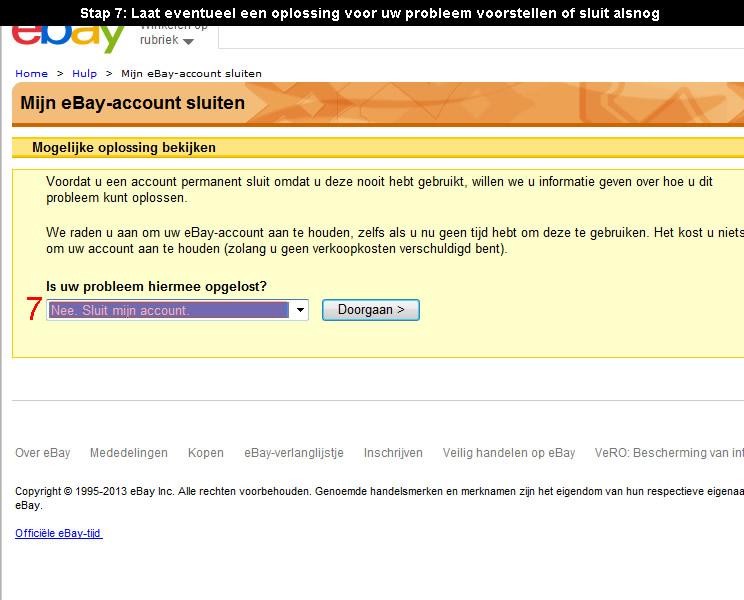 Ebay account verwijderen 7