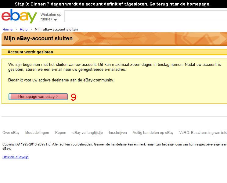 Ebay account verwijderen 9