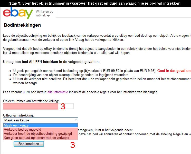 Ebay bod verwijderen 2
