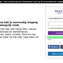 Yahoo wachtwoord vergeten 1