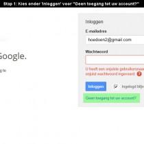 google account wachtwoord vergeten 1