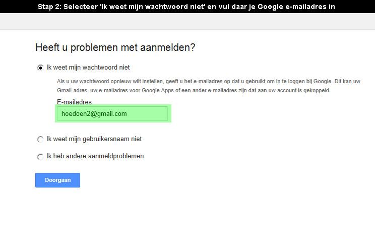 google account wachtwoord vergeten 2