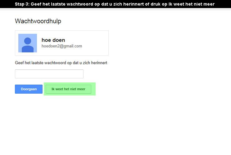 google account wachtwoord vergeten 3
