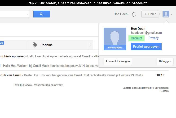 hoe google account verwijderen 2