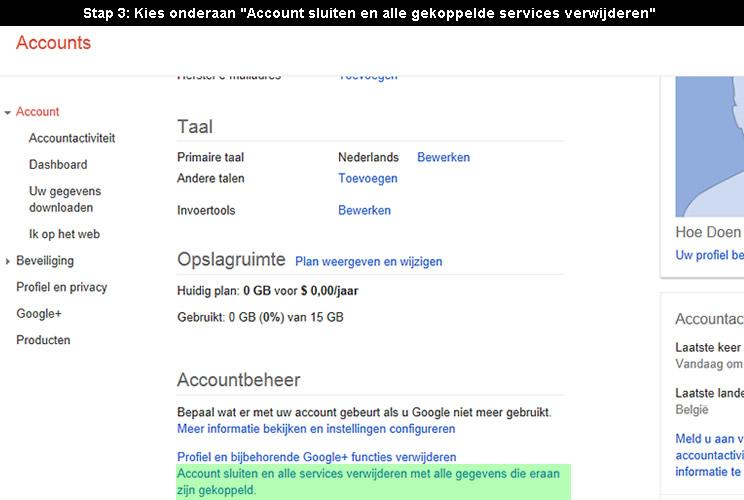 hoe google account verwijderen 3