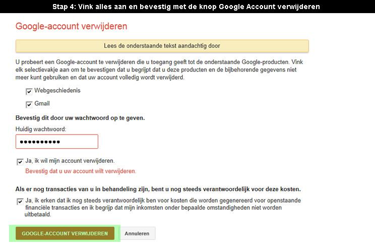 hoe google account verwijderen 4