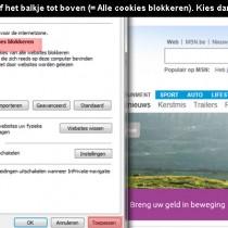 hoe cookies blokkeren op internet explorer 3