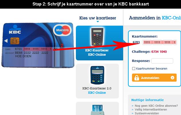 hoe online bankieren bij KBC 2