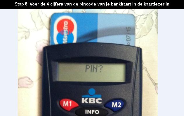 hoe online bankieren bij KBC 5