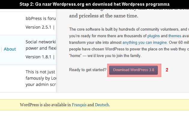 hoe wordpress installeren 2
