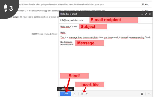 Gmail mail sturen 3