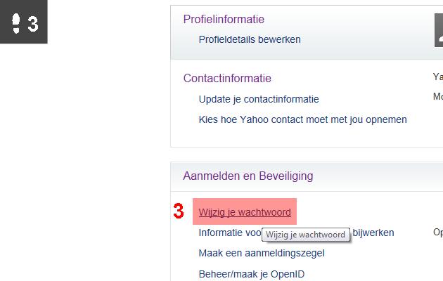 yahoo wachtwoord wijzigen 3