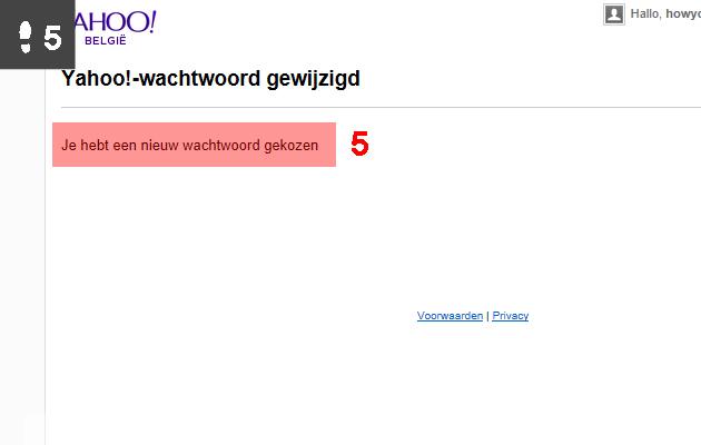 yahoo wachtwoord wijzigen 5