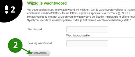 spotify wachtwoord veranderen 2
