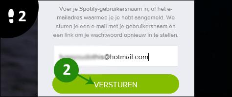 spotify wachtwoord vergeten 2