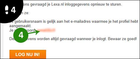 lexa wachtwoord vergeten 4