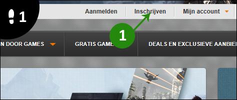 origin account aanmaken 1