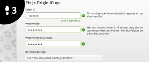 origin account aanmaken 3
