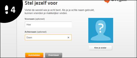 origin account aanmaken 4