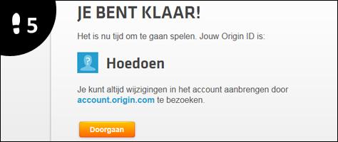 origin account aanmaken 5