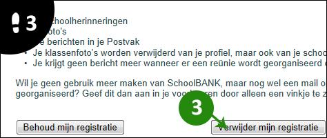 schoolbank account verwijderen 3