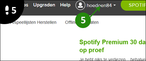 spotify account aanmaken 5