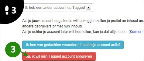tagged account verwijderen 3