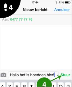 iphone sms versturen 4