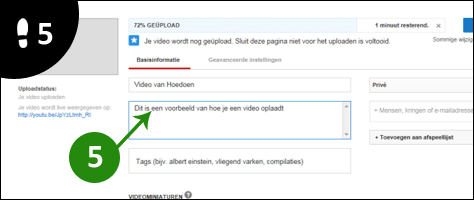 video op youtube zetten 5