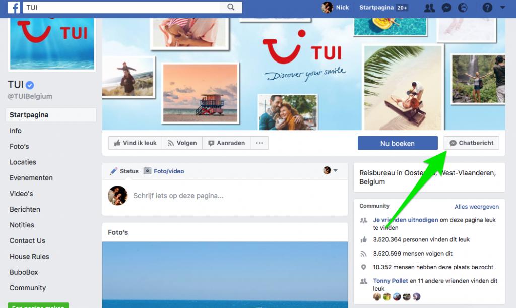 Tui Facebook