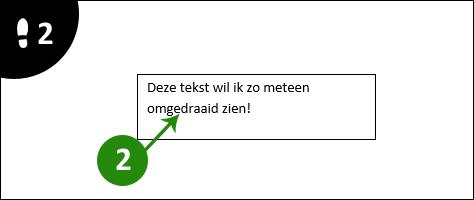 word tekst roteren 2