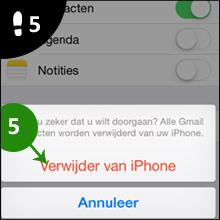 iphone email verwijderen 5