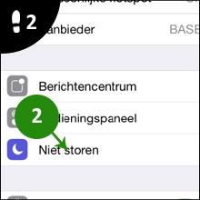 iphone niet storen 2