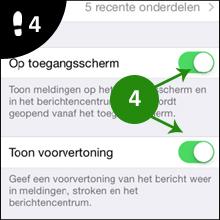 iphone vorvertoning uitzetten 4