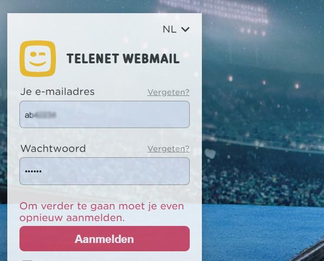 telenet mail inloggen