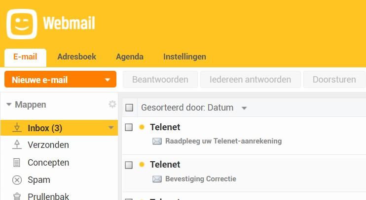 telenet mail aanmelden